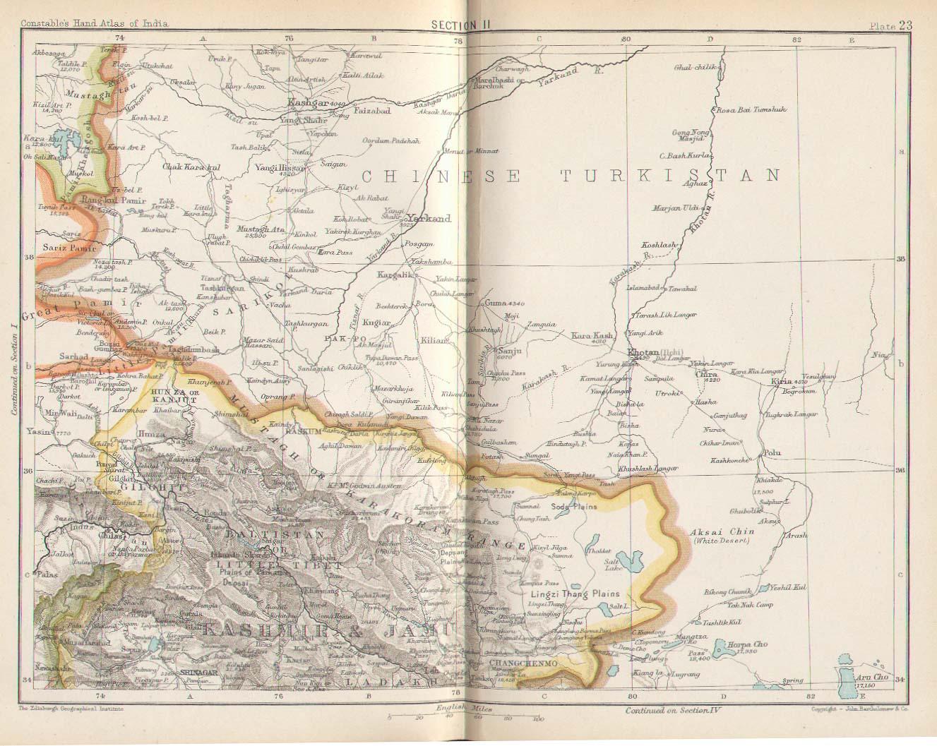 Historical Maps Of India - China historical map 1890 1907