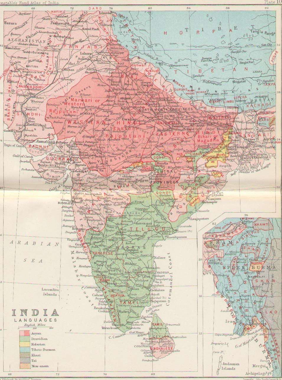 Indian Railway Map Of India.Historical Maps Of India