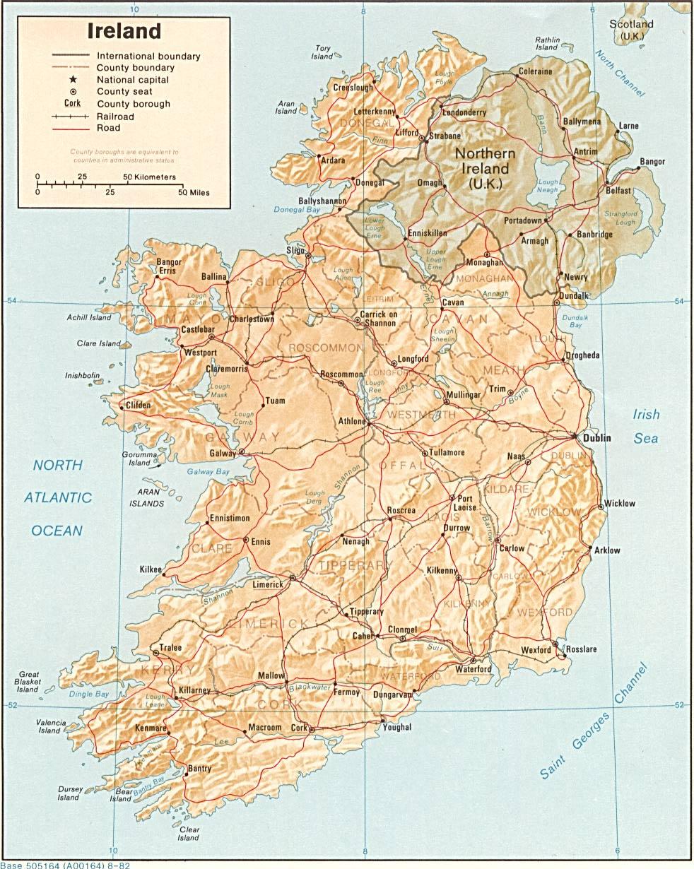 Irelands History In Maps Irish History Geography And Genealogy - Ireland major cities map
