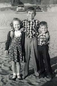 Karen with cousins, Jimmy and Bobby Keehne, circa 1958