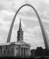 Exterior View with Gateway Arch, 1998 - 60KB