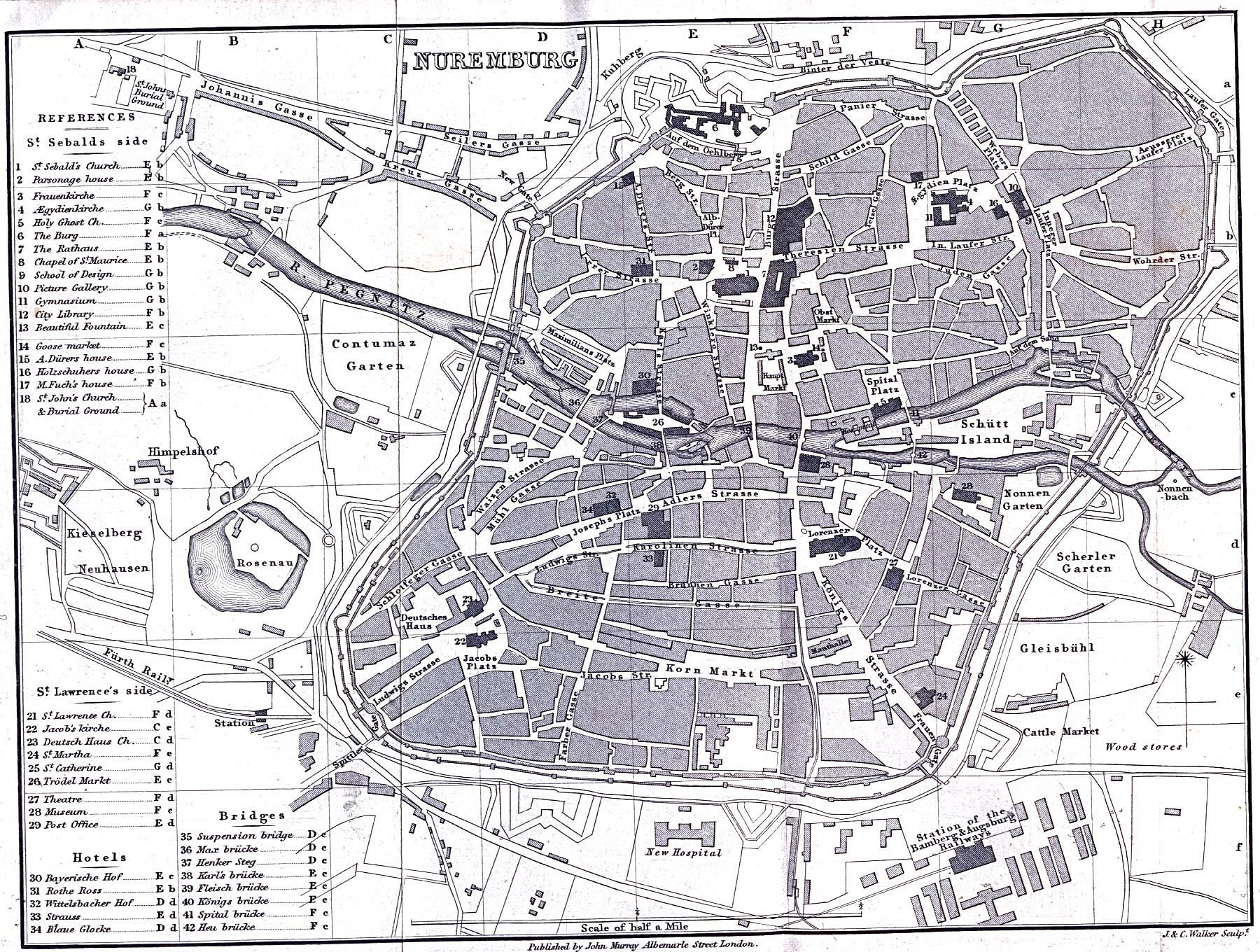 Nuremberg Map 37260 – Nuremberg Tourist Map