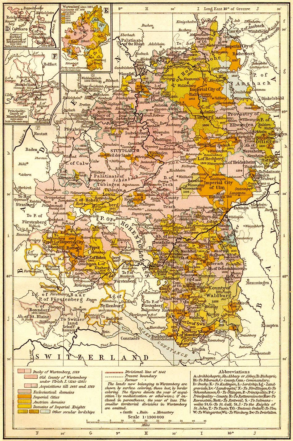 Historical German Maps Photo Gallery - Germany map lands