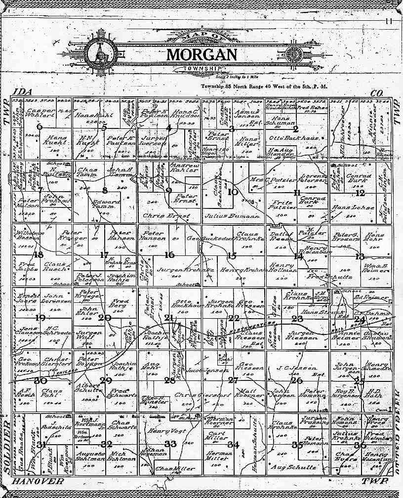1908 Morgan Township Crawford County Iowa