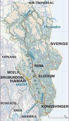 Ancestors From Norway Hedmark Genealogy Resources - Norway map hamar