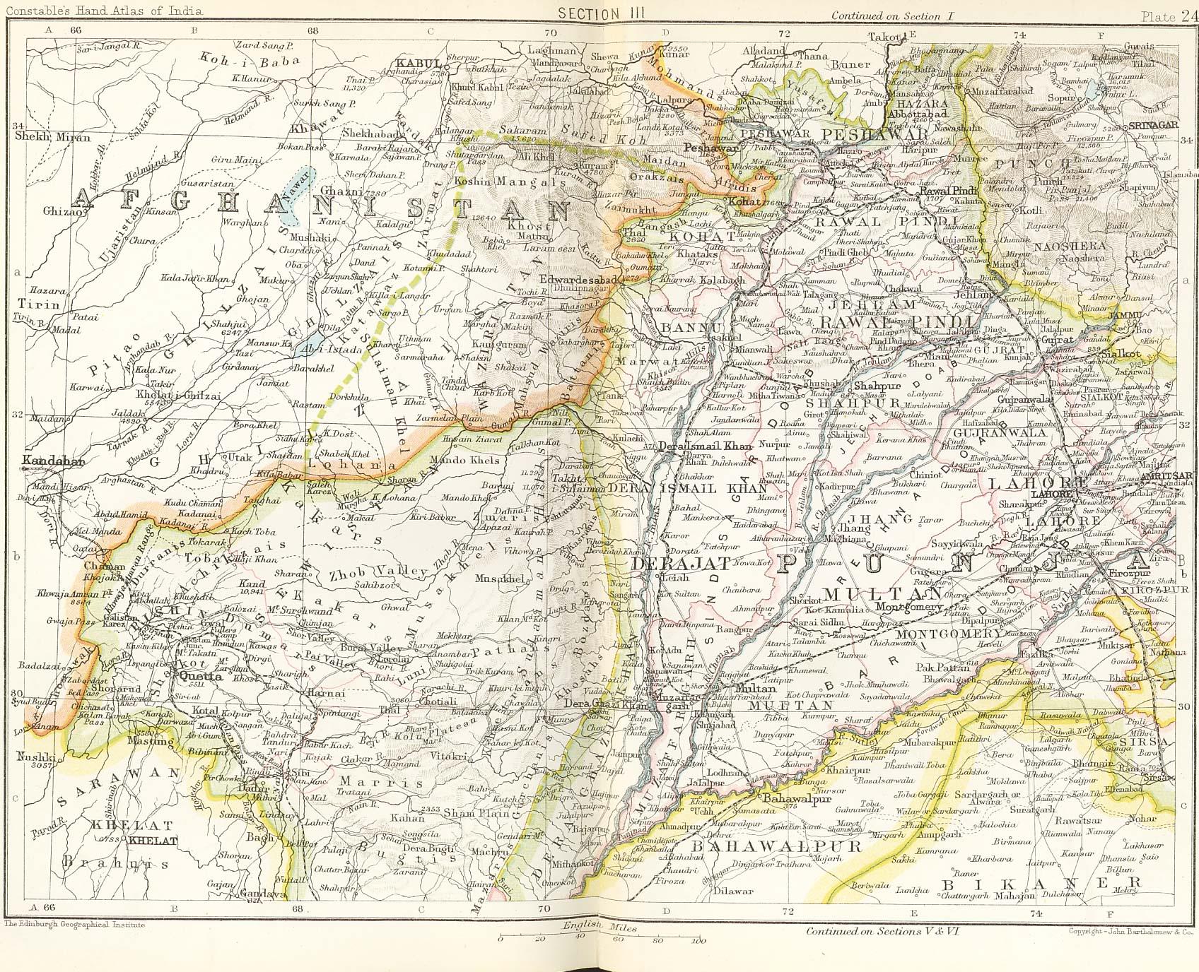 Map Railways Of Afghanistan - Railway map usa 1890