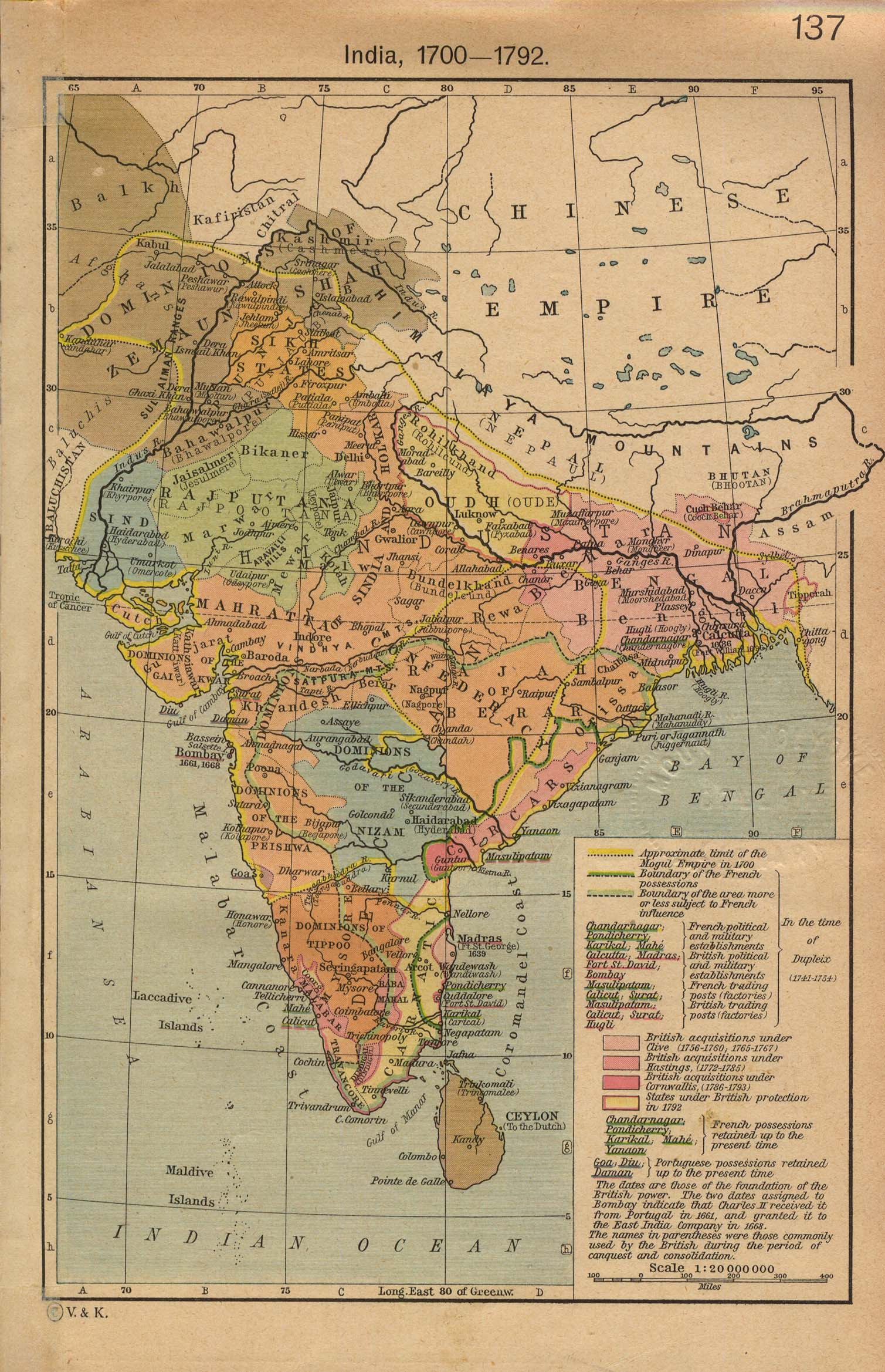 Historical Map Of India Historical Maps of India