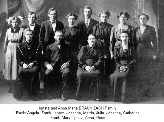 Braun Family Tree And Anna Braun Zach Family